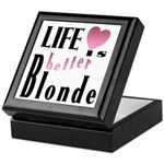 Life Is Better Blonde Keepsake Box