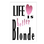 Life Is Better Blonde Postcards (Package of 8)