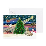XmasMagic/Lhasa (rx) Greeting Cards (Pk of 10)