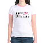 Life Is Better Blonde Jr. Ringer T-Shirt