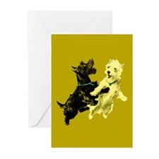 Black & White Terriers Blank Cards (Pk of 10)