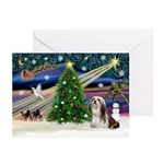 XmasMagic/Lhasa 4 Greeting Cards (Pk of 20)