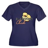 911 Dispatcher Chick Women's Plus Size V-Neck Dark