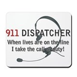 911 Dispatcher Lives on the L Mousepad