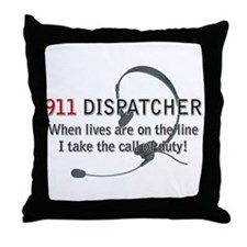 911 Dispatcher Lives on the L Throw Pillow