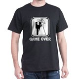Smiling Bride &amp; Groom Game Over T-Shirt