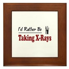 Rather Be Taking X-Rays Framed Tile