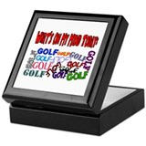 On My Mind Today GOLF Keepsake Box