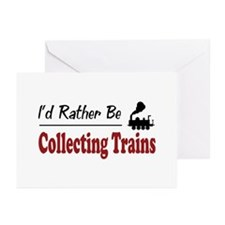 Rather Be Collecting Trains Greeting Cards (Pk of