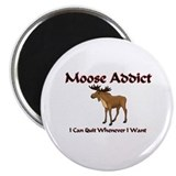 "Moose Addict 2.25"" Magnet (10 pack)"