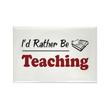 Rather Be Teaching Rectangle Magnet (100 pack)