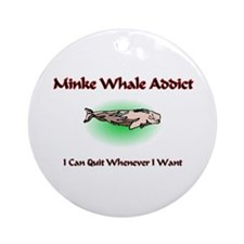 Minke Whale Addict Ornament (Round)