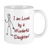 I am Loved By: Daughter Small Mugs