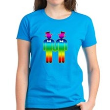 Rainbow Grooms Gay Wedding Tee