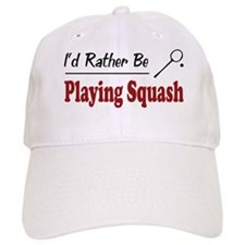 Rather Be Playing Squash Baseball Cap