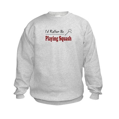 Rather Be Playing Squash Kids Sweatshirt