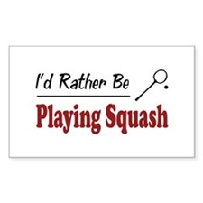Rather Be Playing Squash Rectangle Decal