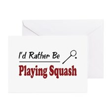 Rather Be Playing Squash Greeting Cards (Pk of 20)
