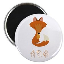 "ASL Fox 2.25"" Magnet (10 pack)"