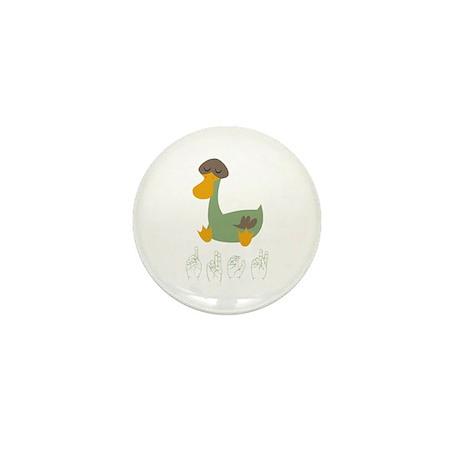 ASL Duck Mini Button (100 pack)