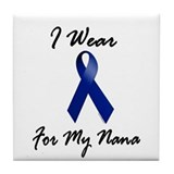I Wear Blue For My Nana 1 Tile Coaster