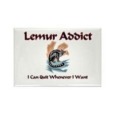 Lemur Addict Rectangle Magnet