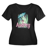 Audrey Ladybug Flower Women's Plus Size Scoop Neck