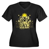 Ancient Egypt v1 Women's Plus Size V-Neck Dark T-S