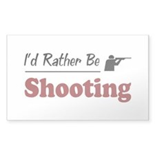 Rather Be Shooting Rectangle Sticker 50 pk)