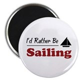 "Rather Be Sailing 2.25"" Magnet (100 pack)"