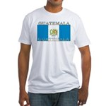 Guatemala Guatemalan Flag Fitted T-Shirt