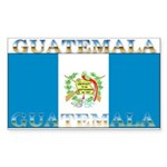 Guatemala Guatemalan Flag Rectangle Sticker