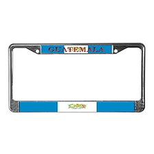 Guatemala Guatemalan Flag License Plate Frame