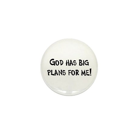 God's Plan for Me Mini Button (10 pack)