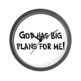 God's Plan for Me Wall Clock