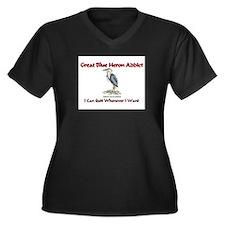 Great Blue Heron Addict Women's Plus Size V-Neck D