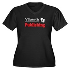 Rather Be Publishing Women's Plus Size V-Neck Dark