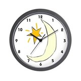 Sweet Dreams Moon Graphic, Wall Clock