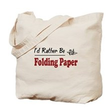 Rather Be Folding Paper Tote Bag