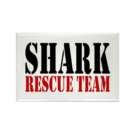 Shark Rescue Team Rectangle Magnet