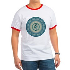 Colorful Circle of Fifths T