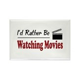 Rather Be Watching Movies Rectangle Magnet (10 pac
