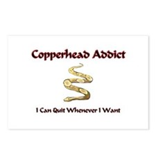 Copperhead Addict Postcards (Package of 8)
