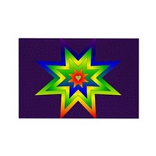 Rainbow Star Rectangle Magnet (100 pack)
