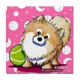 Tennis Pro Pom Tile Coaster