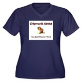 Chipmunk Addict Women's Plus Size V-Neck Dark T-Sh