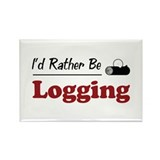 Rather Be Logging Rectangle Magnet (10 pack)