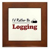 Rather Be Logging Framed Tile