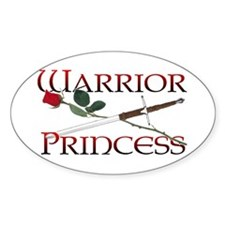 Warrior Princess Oval Decal