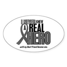 Never Knew A Hero 2 Grey (Best Friend) Decal